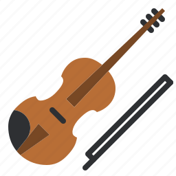audio, instrument, music, orchestra, song, stringed, violin icon