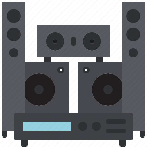 audio, home, music, player, sound, speaker, teather icon
