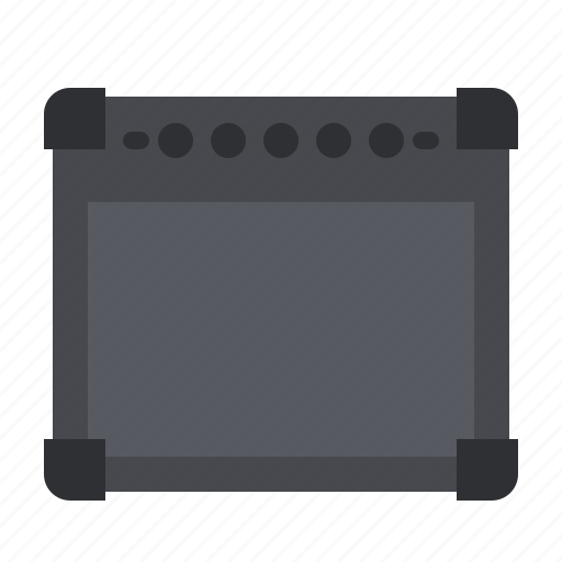 amplifier, audio, bass, guitar, music, song, speaker icon