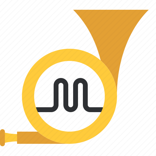 audio, horn, instrument, music, song, trumpet, wind icon