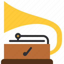 music, old, phonograph, player, song, turntable, vintage icon