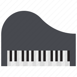 instrument, keyboard, music, piano, song icon
