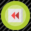 backward, button, multimedia, music, option, player, video icon