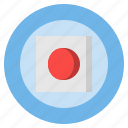 button, circular, multimedia, music, rec, record, recording icon