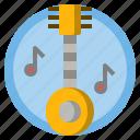 banjo, folk, instrument, multimedia, music, orchestra, string icon