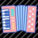 accordion, instrument, music, sound icon