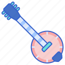 banjo, instrument, music, song icon