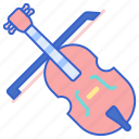 cello, instrument, music, song icon