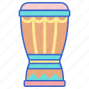 bong, djembe, instrument, music icon