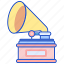 gramophone, music, player, song icon