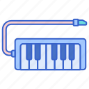 instrument, melodica, music, sound icon