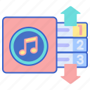 chart, hit, music, top icon