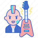 guitar, music, punk, song icon
