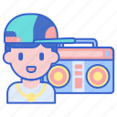 cassette player, hip hop, music, player icon