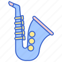 instrument, music, saxophone, song icon