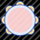 drum, instrument, music, tambourine icon
