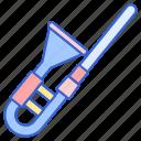 instrument, music, sound, trombone icon