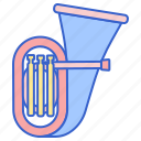 instrument, music, song, tuba icon