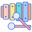 instrument, music, play, xylophone icon