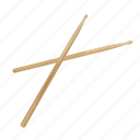 band, drum, drumstick, instrument, music, percussion, song icon
