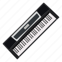 band, electric piano, instrument, music, piano, piano keyboard, song icon