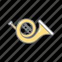 instrument, melody, music, music instrument, sound, trumpet icon