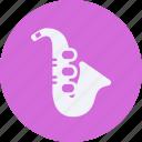 audio, instrument, multimedia, music, saxophone icon