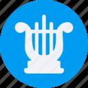 audio, harp, instrument, multimedia, music icon