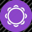 audio, instrument, multimedia, music, tambourine icon