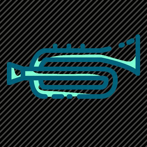 instrument, jazz, melody, music, sound, trumpet icon