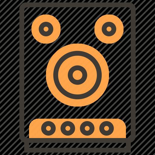 instruments, music, orchestra, rhythm, sound, speakers icon