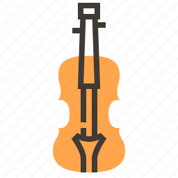 instruments, music, orchestra, rhythm, sound, violin icon