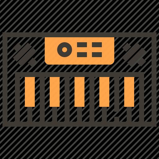 instruments, keyboard, music, orchestra, piano, rhythm, sound icon