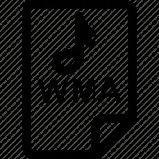 audio, file, music, sound, type, wma icon