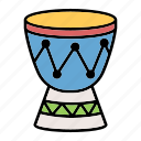1, african, djembe, drum, instrument icon