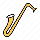 instrument, music, saxophone