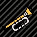 instrument, music, trumpet