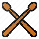 drum, sticks, music, instrument
