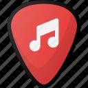 guitar, pick, music, instrument