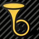 horn, music, instrument