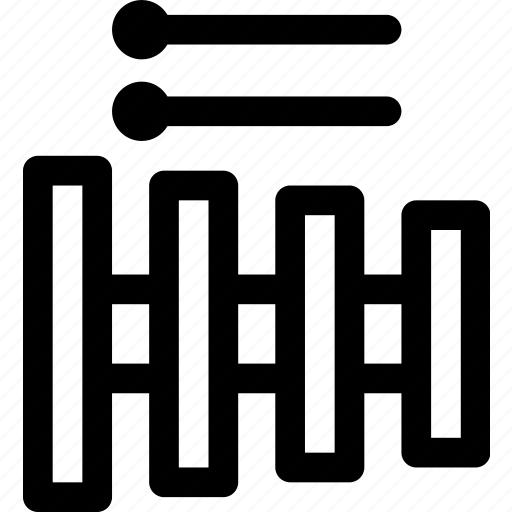 concert, instrument, marimba, music, vibraphone, xylophone icon