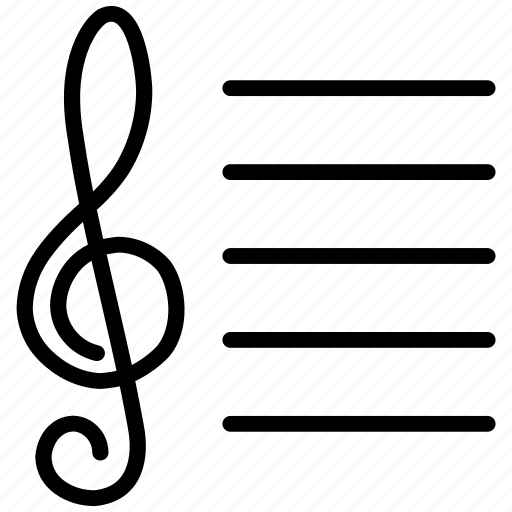 clef, compose, composition, melody, music, musical, notation, note, notes, play, sing, tremble icon