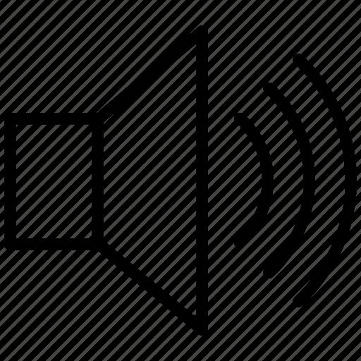 audio, control, media, multimedia, music, play, sound, speaker, volume icon