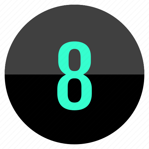 count, eight, number icon