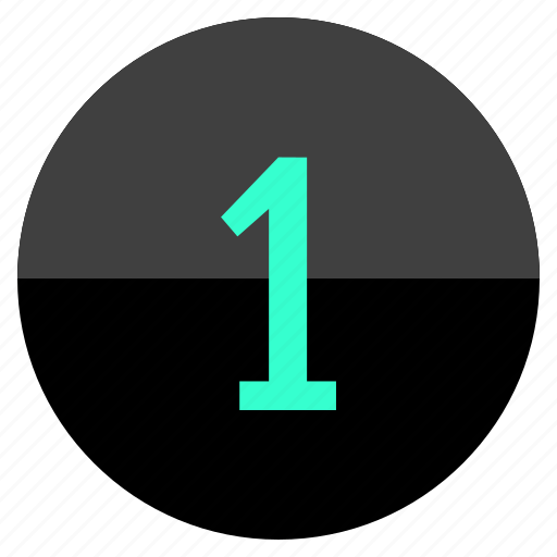 design, number, one, ui icon