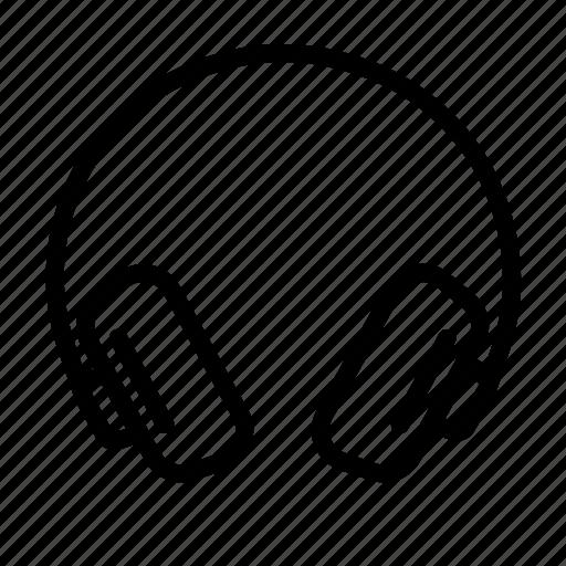 earphone, handsfree, headset, music, song, tools icon
