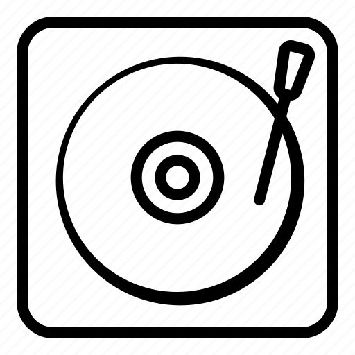 audio, dj, instrument, media, music, player, turntable icon