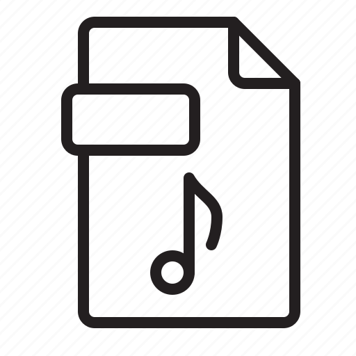Audio, document, extension, file, music, song, sound icon - Download on Iconfinder