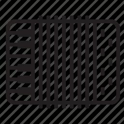accordion, audio, instrument, music, piano, sound icon