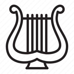 audio, harp, instrument, music, sound, stringed icon